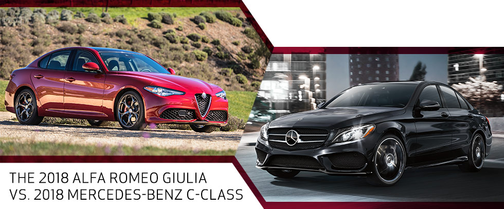 The 2018 Alfa Romeo Giulia vs. the 2018 Mercedes-Benz C-Class in Van Nuys, CA