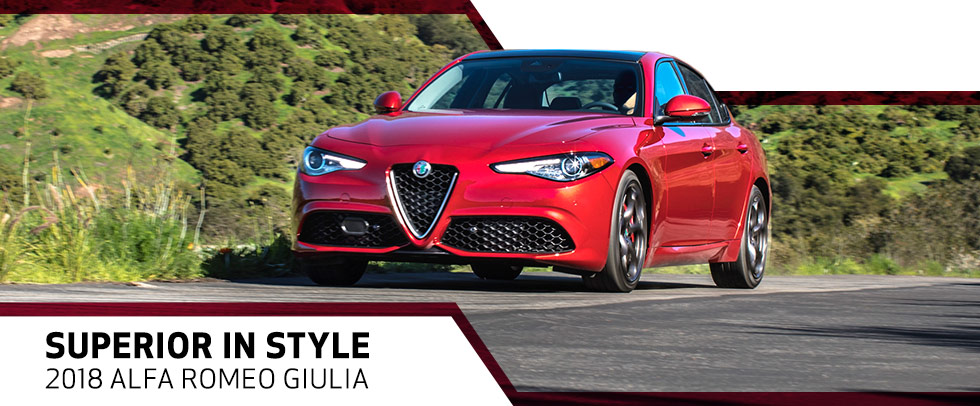The 2018 Alfa Romeo Giulia is available at Van Nuys Alfa Romeo near Los Angeles