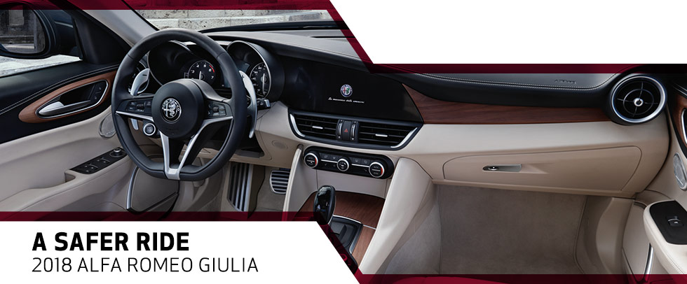 The 2018 Alfa Romeo Giulia is available at Van Nuys Alfa Romeo near Glendale