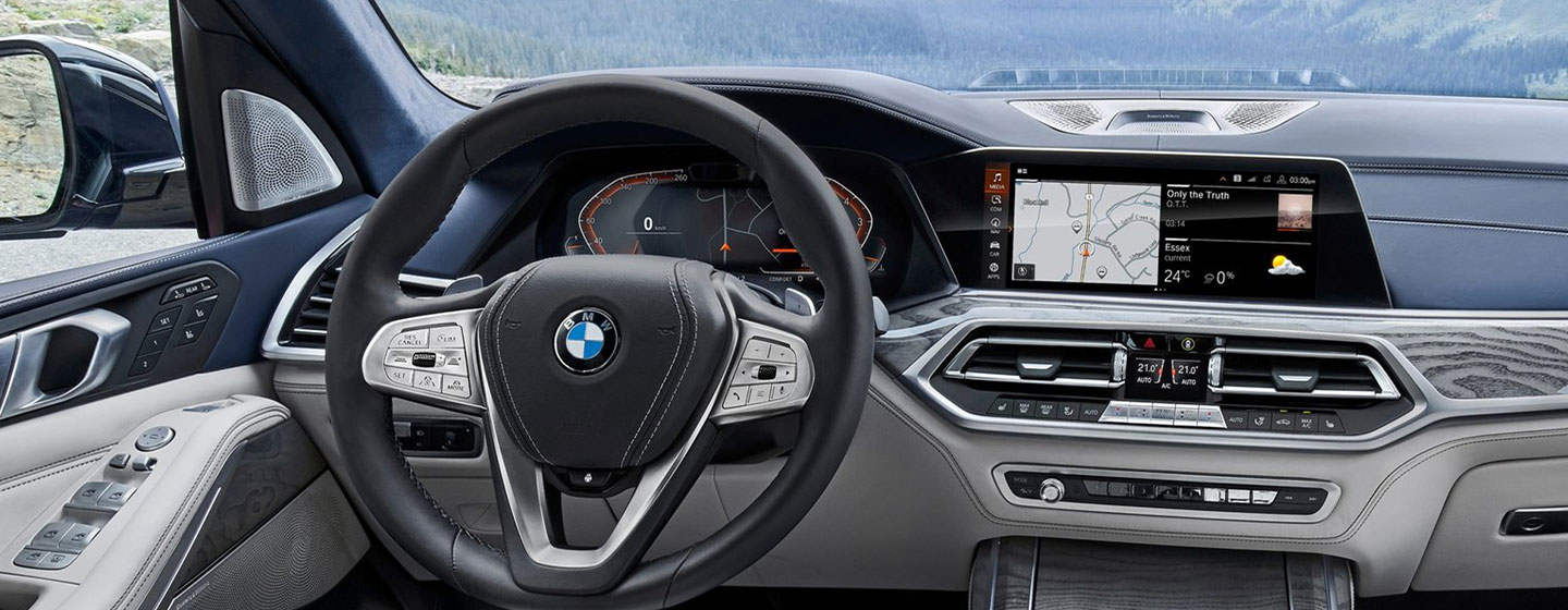 Safety features and interior of the 2019 BMW X7- available at our BMW dealership in Columbia, SC