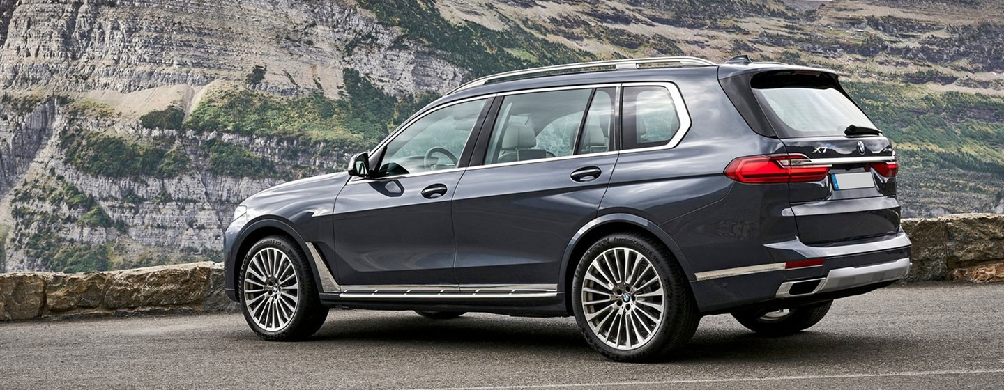 Exterior image of the 2019 BMW X7 at BMW of Columbia.