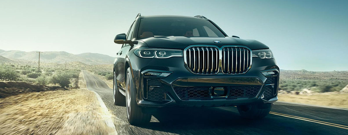 2019 BMW X7 Exterior - Front End - Driving on the road.