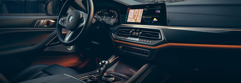 Interior of the 2020 BMW X6