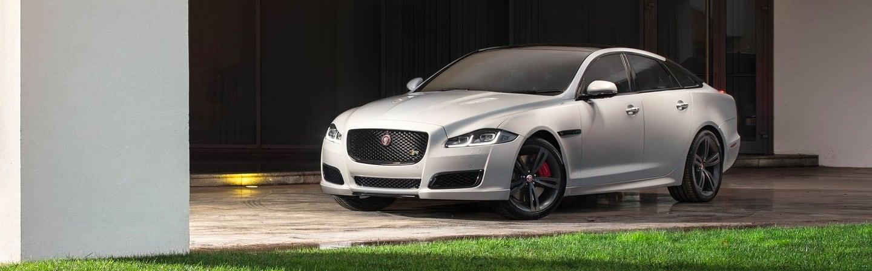 The 2019 Jaguar XJ parked