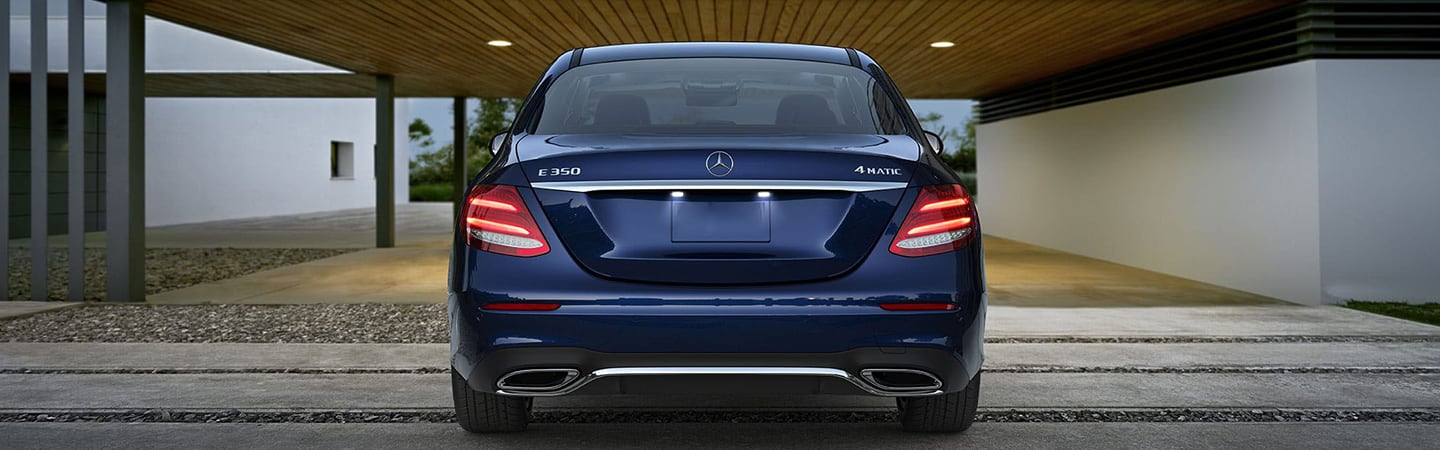 Rear view of the 2020 Mercedes-Benz E-Class