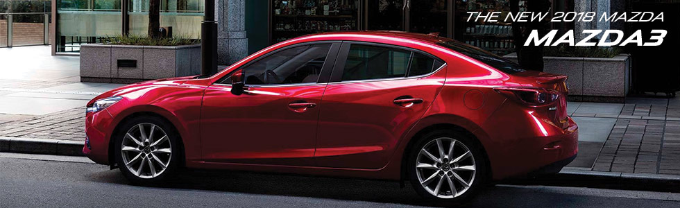 The 2018 Mazda3 is available at Ourisman Mazda in Laurel MD