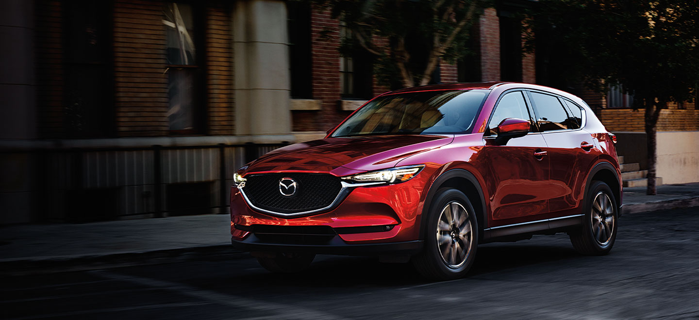 The 2019 Mazda CX-5 is available at our Mazda dealership in Manchester, NH.