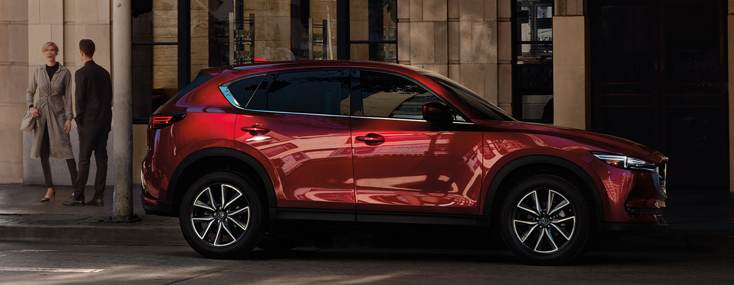 Exterior of the 2018 Mazda CX-5 - available at our Mazda dealership in Manchester, NH.