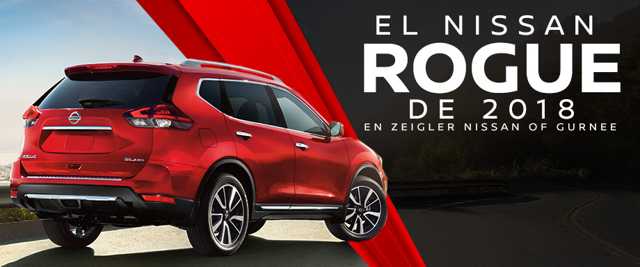 The 2018 Nissan Rogue is available at Zeigler Nissan of Gurnee near Kenosha, WI