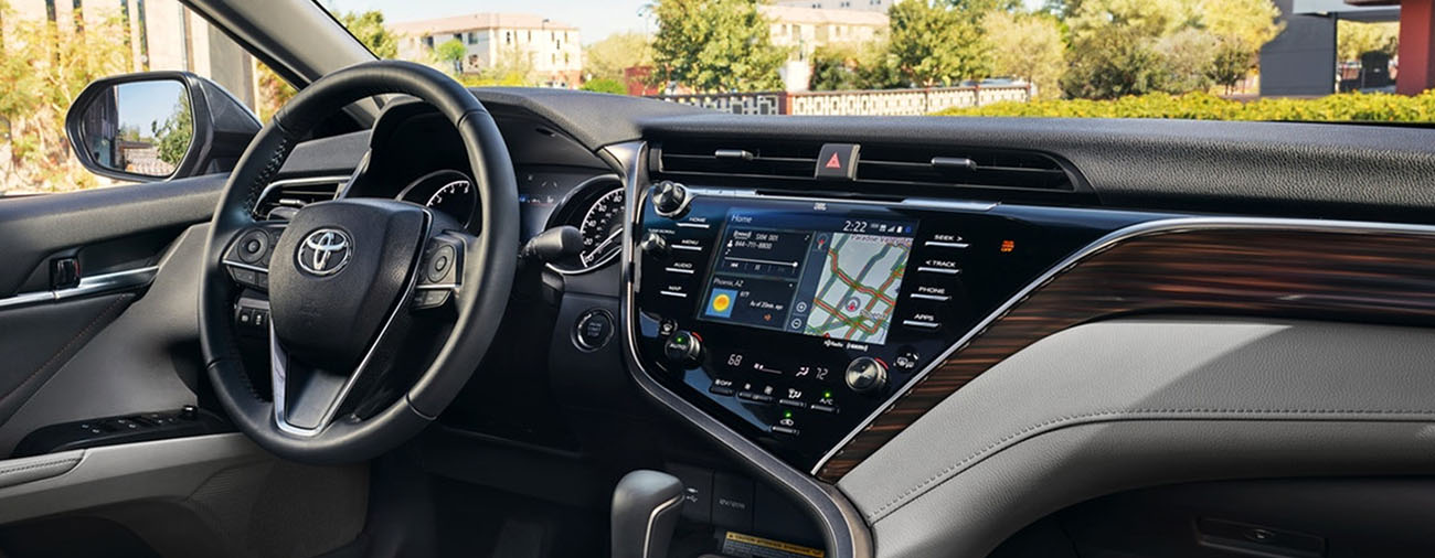 Safety Features of the 2019 Toyota Camry. available at our Toyota Dealership in Columbus