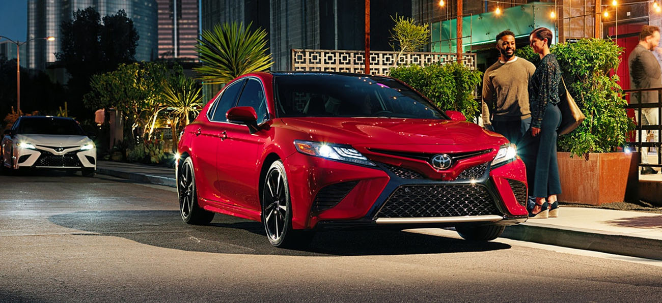 The 2019 Toyota Camry is available at our Toyota Dealership in Columbus