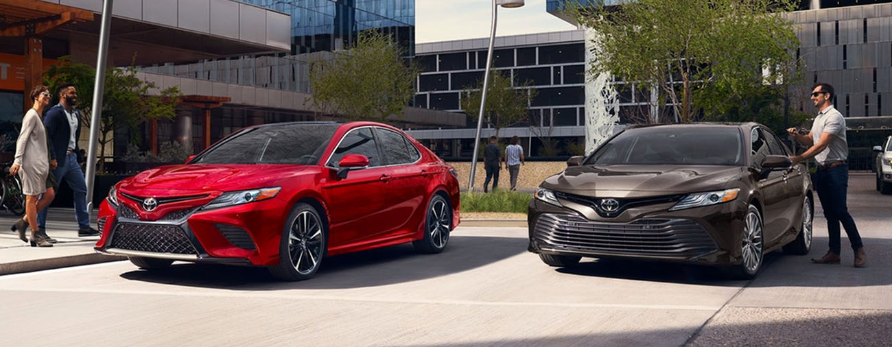 2019 Toyota Camry in parking lot
