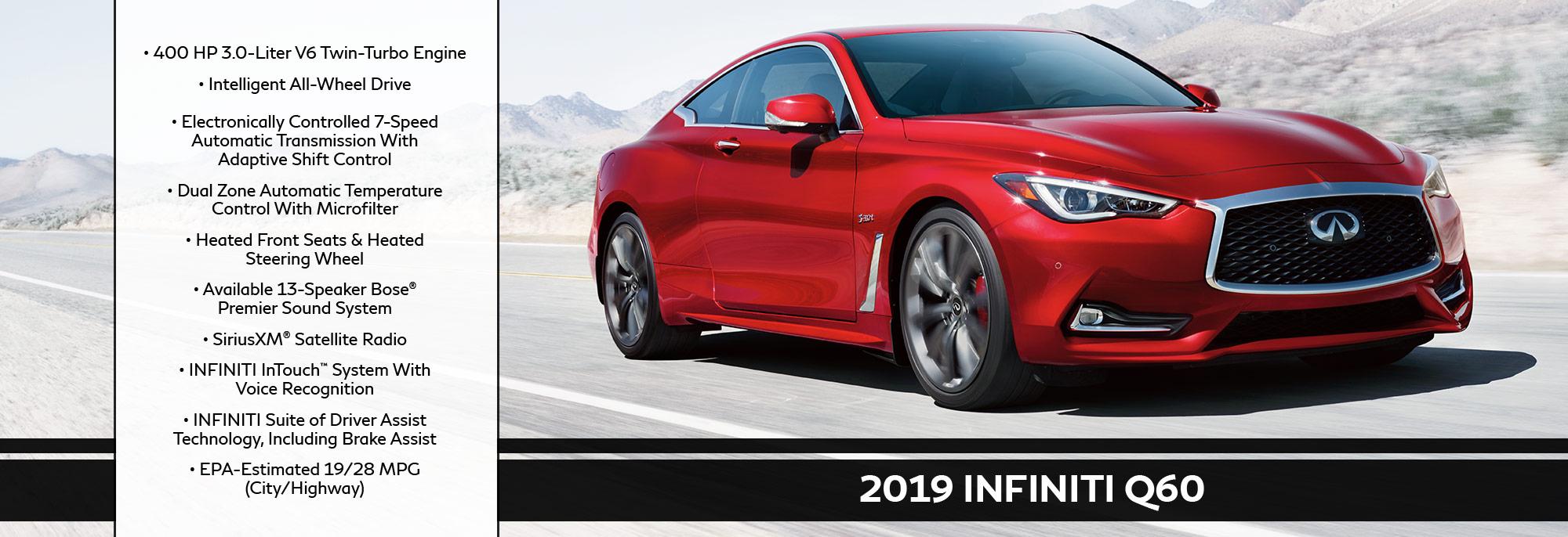 New 2019 INFINITI Q60 Offer