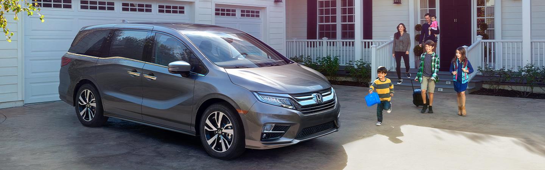 2020 Honda Odyssey parked outside of a house