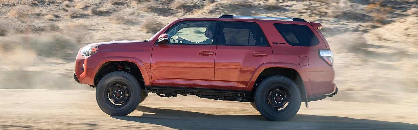 Red 2020 Toyota 4Runner in motion