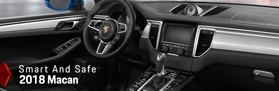 Safety features and interior of the 2018 Porsche Macan - available at Capital Porsche near Panama City, FL and Lake City, FL
