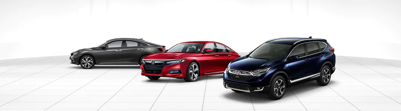 2019 Honda Civic, 2019 Honda Accord, and 2019 Honda CR-V