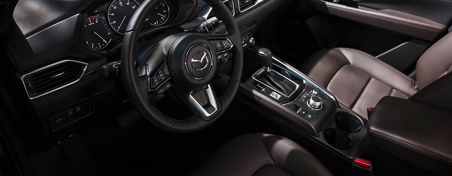Safety features and interior of the 2019 Mazda CX-5 - available at our Mazda dealership near Manchester, NH.
