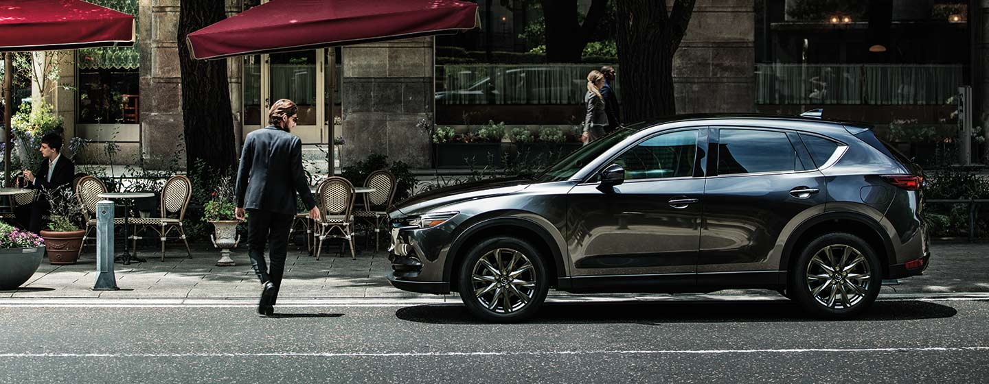 Exterior of the 2019 Mazda CX-5- available at our Mazda dealership near Manchester, NH.