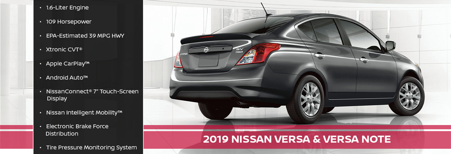 New 2019 Nissan Versa Offer