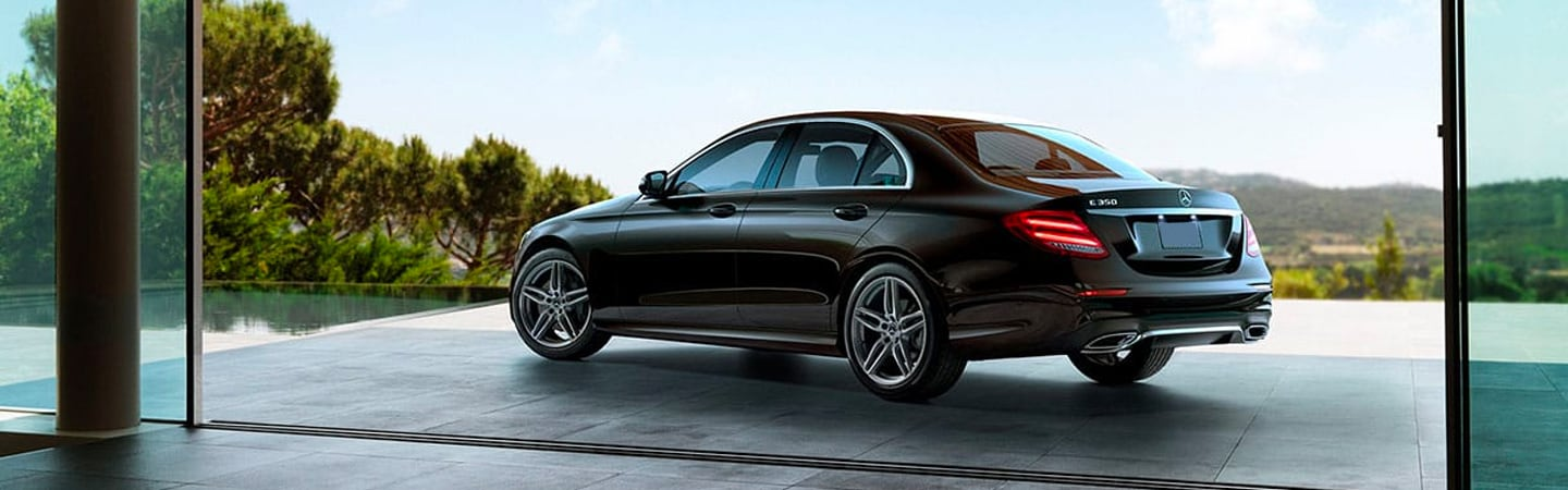 2020 Mercedes-Benz E-Class parked next to a pool