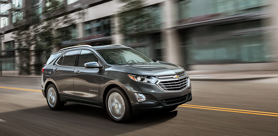 Exterior of the 2018 Chevrolet Equinox at DeFOUW Automotive near West Lafayette, IN