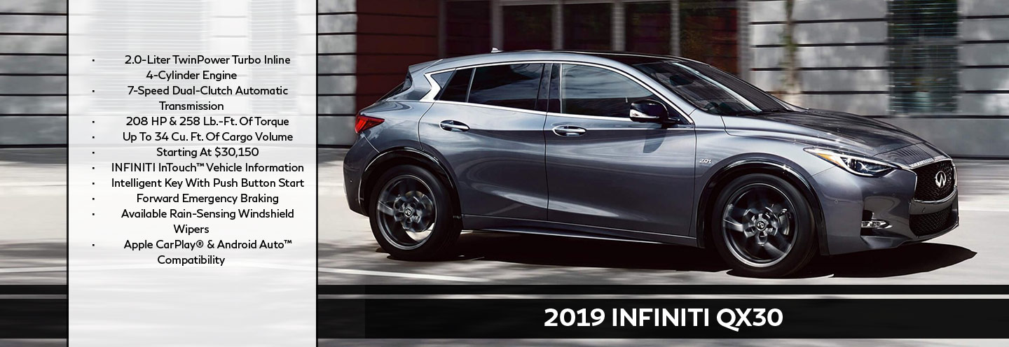New 2019 INFINITI QX30 Offer