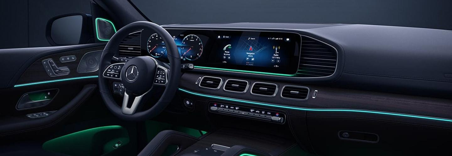 Interior view of the stylish Mercedes-Benz GLE