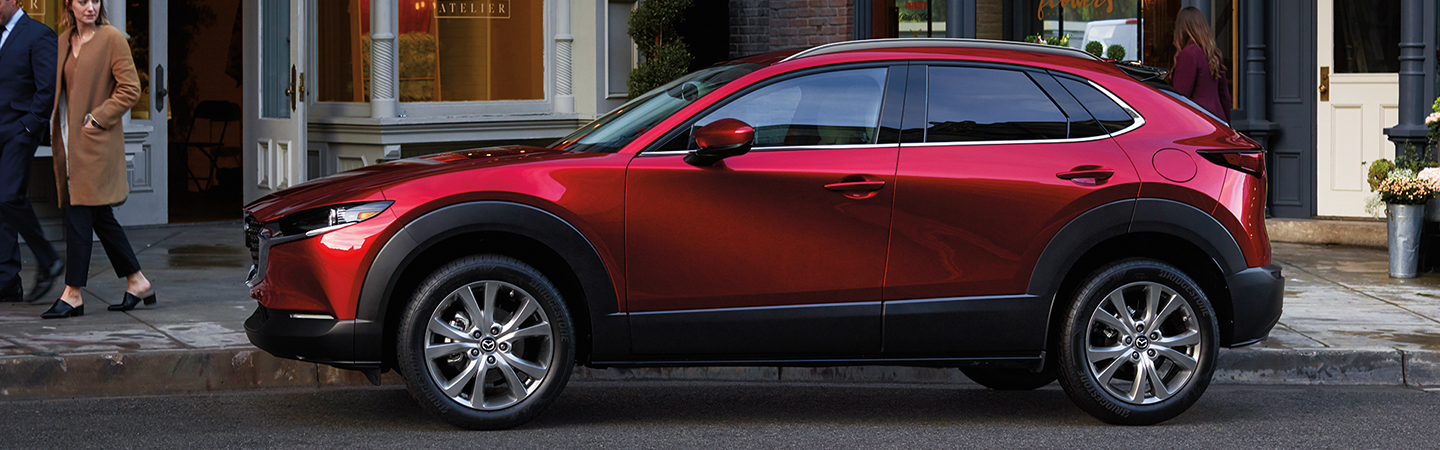 Side view of the 2020 Mazda CX-30