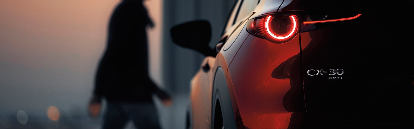 Close up of the taillights of the 2020 Mazda CX-30