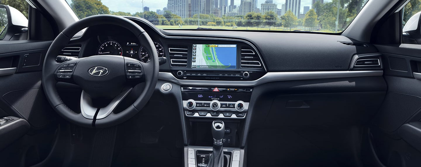 Safety features and interior of the 2019 Hyundai Elantra - available at our Hyundai dealership in Reno NV.