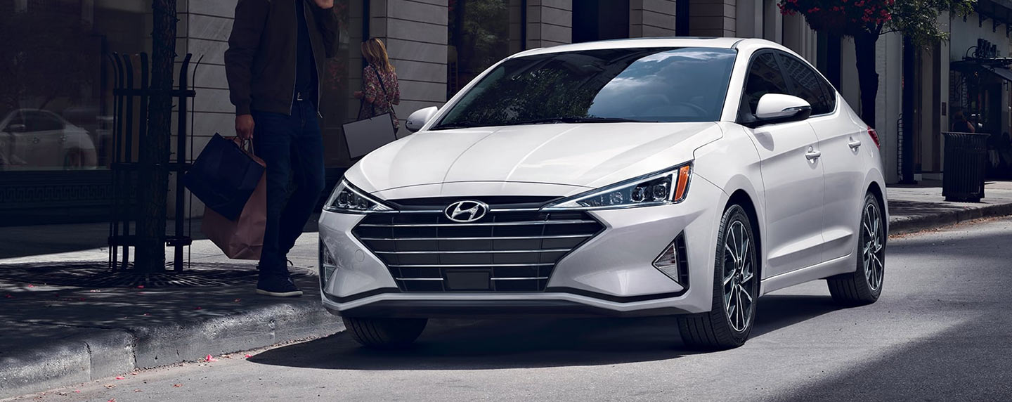 2019 Hyundai Elantra parked in the city.