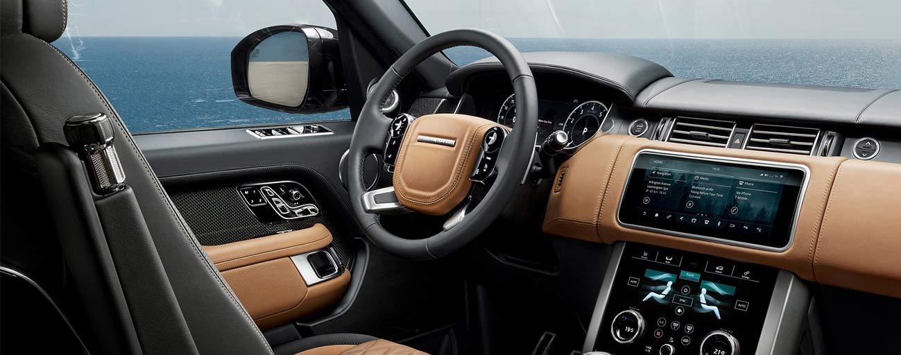 Safety features and interior of the 2019 Range Rover - available at our Land Rover dealership near Gainesville, FL.