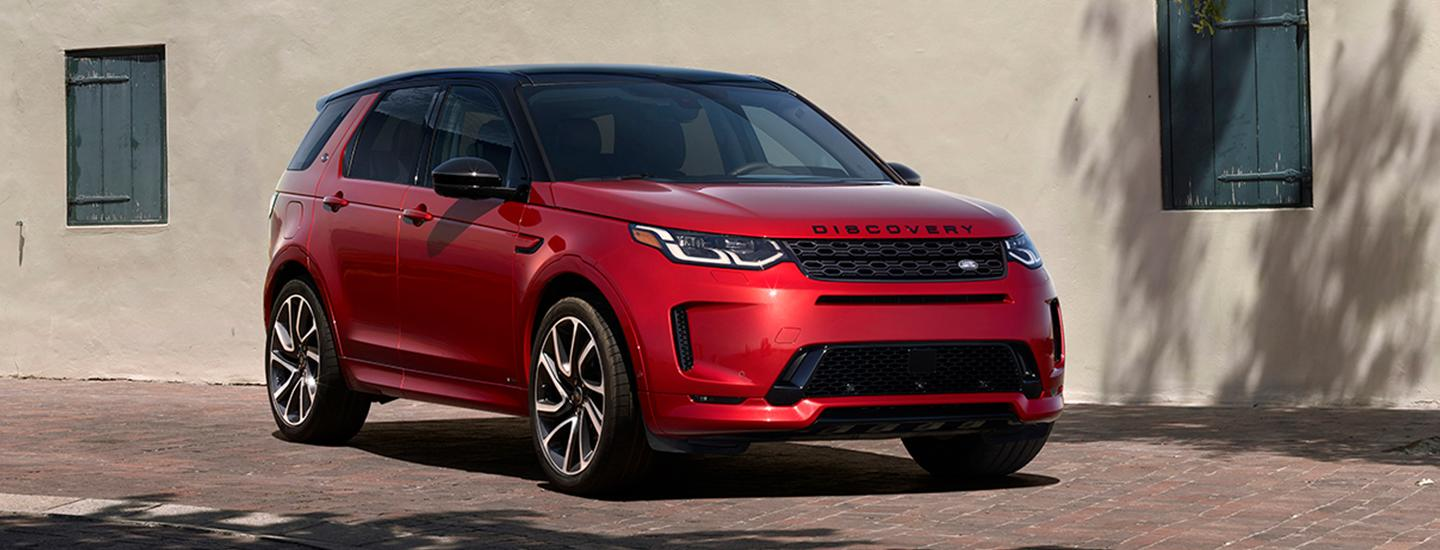 Front view of the 2020 Land Rover Discovery Sport at Land Rover Ocala