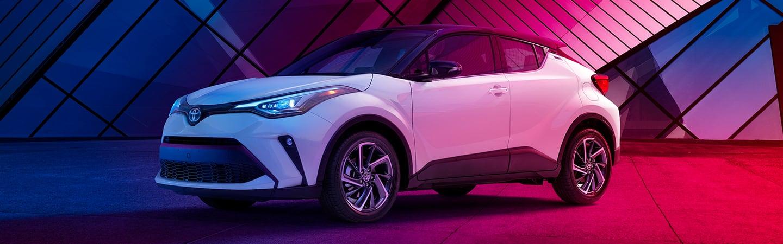 White 2020 Toyota C-HR parked