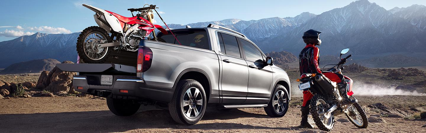 Truck bed view of the 2020 Honda Ridgeline
