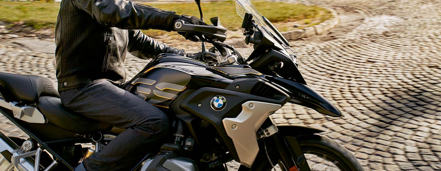 Safety features and interior of the 2019 BMW R 1250 GS - available at our BMW dealership near Barrington, IL.