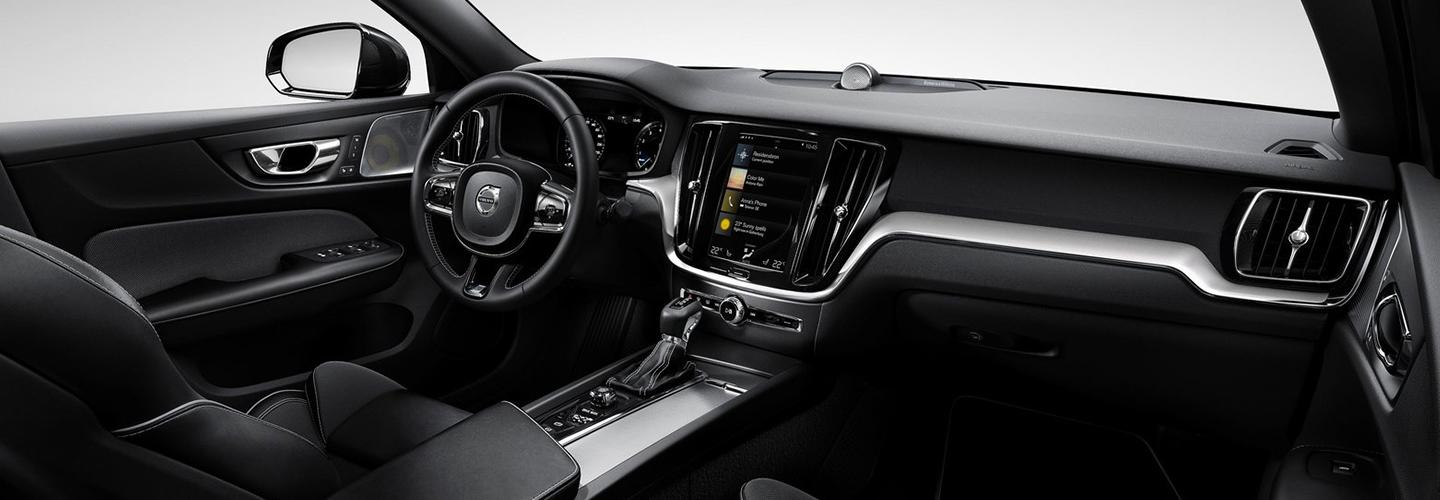 Interior view of the 2020 Volvo S60