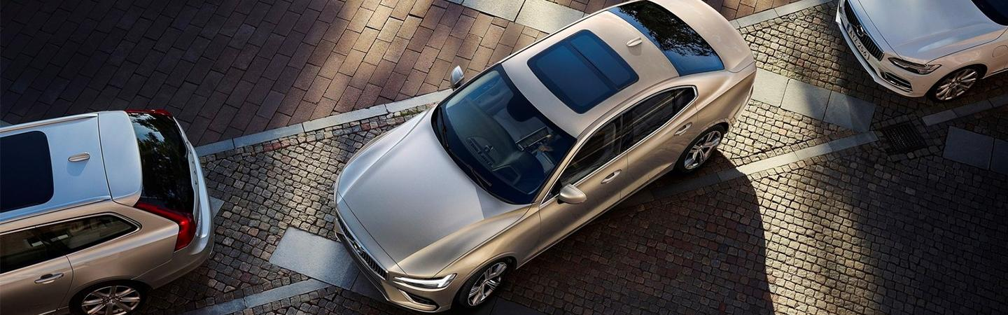 Aerial view of the 2020 Volvo S60