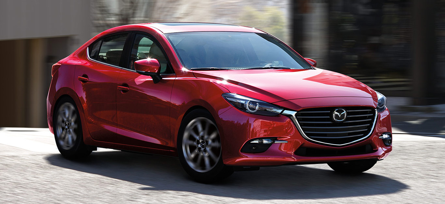 The 2018 Mazda3 is available at our Mazda dealership in Manchester, NH.