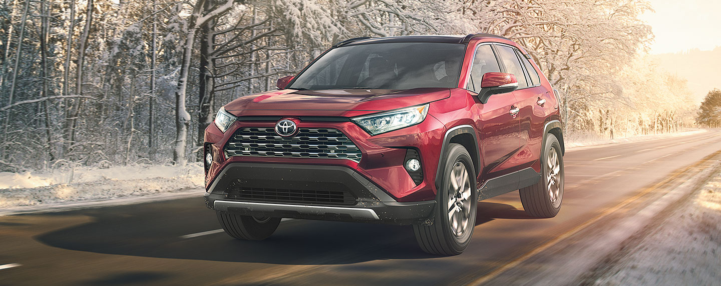 2019 Toyota RAV4 Exterior - Front End - Driving on the road.