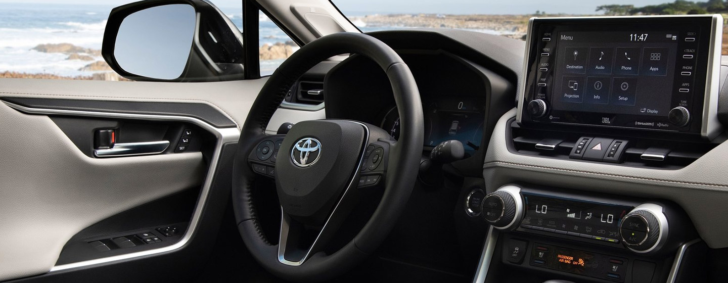 Safety features and interior of the 2019 Toyota RAV4 - available at our Toyota dealership in Atlanta, GA