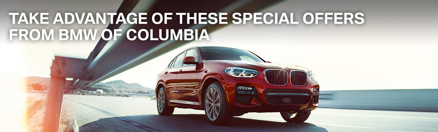 Take Advantage Of These Special Offers From BMW of Columbia