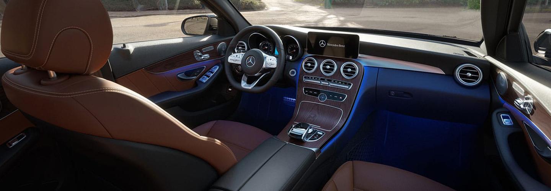 Interior infotainment view of the 2020 Mercedes-Benz C-Class
