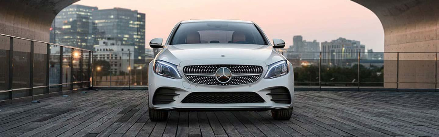 Front view of the 2020 Mercedes-Benz C-Class