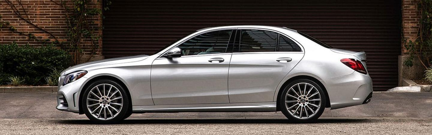 Driver profile view of the 2020 Mercedes-Benz C-Class