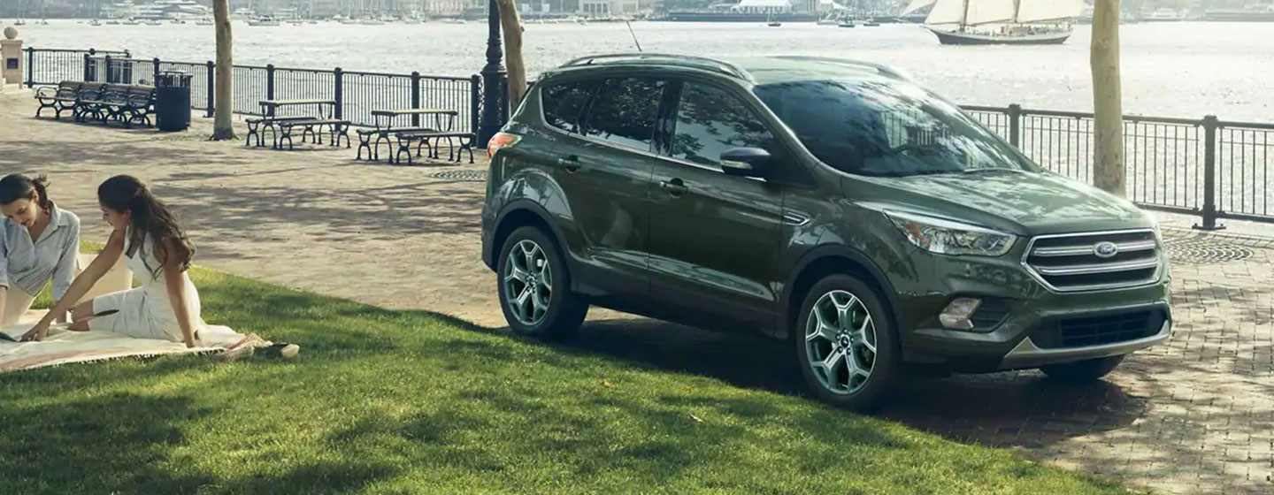 2019 Ford Escape parked in a park at picnic.