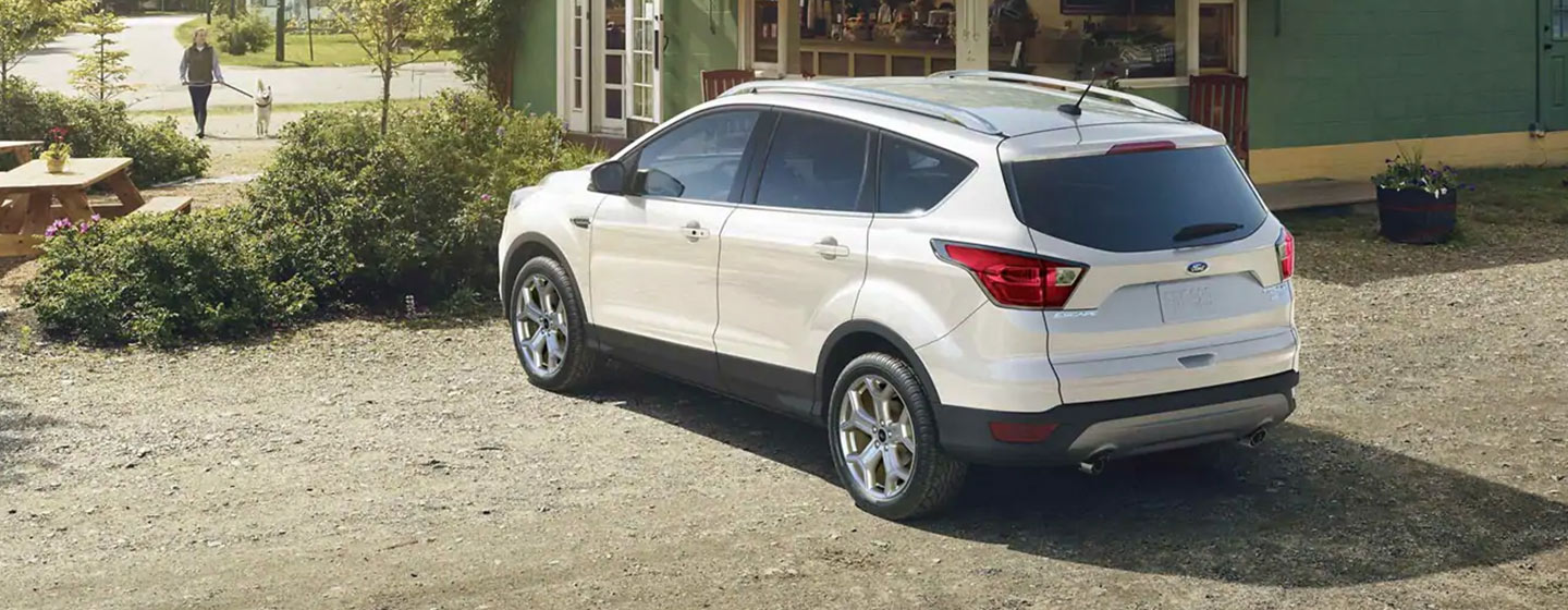 2019 Ford Escape rear view parked.