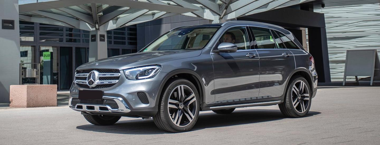 Silver Mercedes-Benz GLC parked