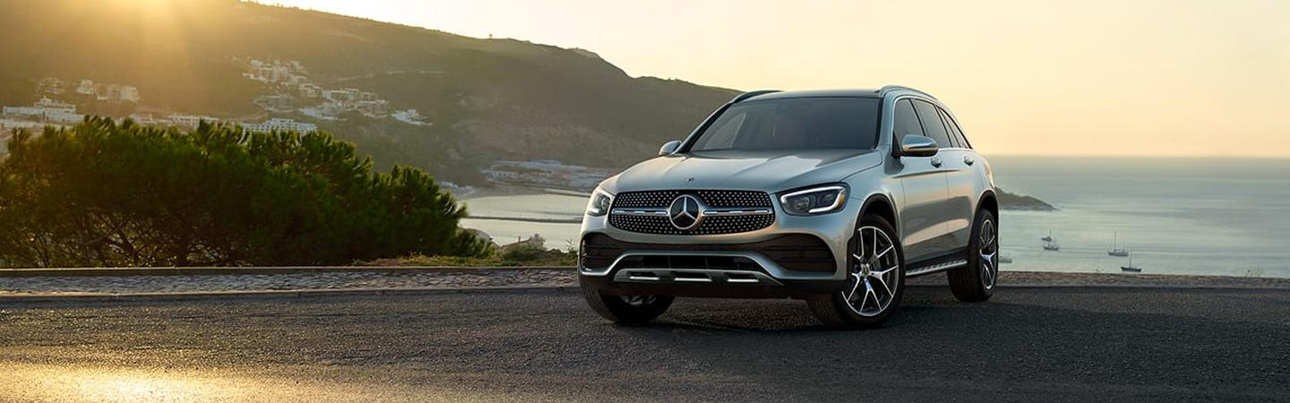 2020 Mercedes-Benz parked by the ocean